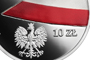 100th Anniversary of the National Flag of Poland, 10 zł, obverse detail