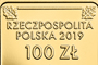 The Return of Gold to Poland, 100 zł, obverse detail